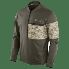 Seattle Seahawks Nike Nfl Salute to Service Hybrid Jacket - Mens - Cargo Khaki