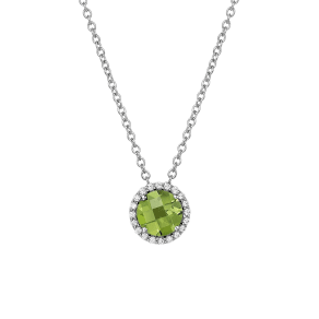 Women's Lafonn Birthstone Halo Pendant Necklace