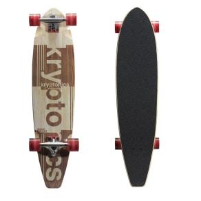 """Variflexkryptonics Blocktail Longboard 36"""" Complete Skateboard - Authentic 1965"""