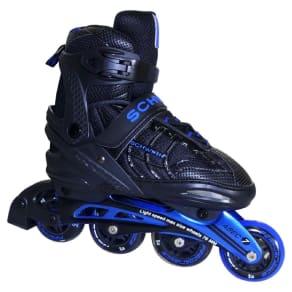 Schwinn Unisex Adult Adjustable Inline Skate - Black/Blue 6-7