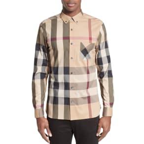 Men's Burberry Thornaby Slim Fit Plaid Sportshirt