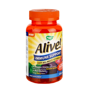 Nature's Way Alive! Immune Support Soft Jell 60 Tablets - 60tablets