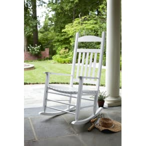 Outdoor Garden Oasis Porch Rocker - White