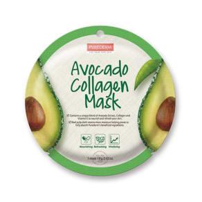Purederm Avocado Collagen Mask Circle 18g Sachet