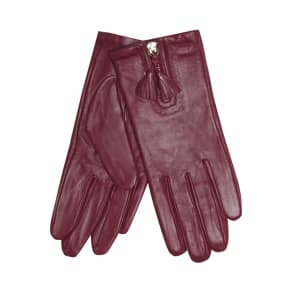 rjr.john Rocha Light Pink Front Zip Tassel Gloves
