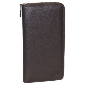 Soho Leather Rfid Blocking Passport Wallet With 8 Credit Card Slots and Gusseted Utility Compartment