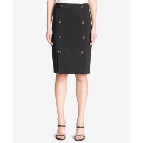 Calvin Klein Double-Button Pencil Skirt