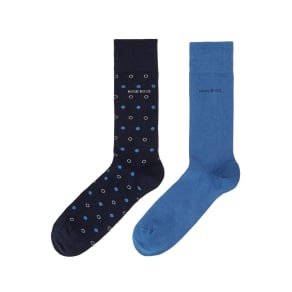 Men's Hugo Boss 2pk Dot Socks, Blue