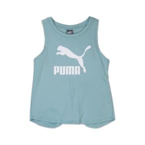Girl's Puma Logo Cross Back Tank, Size Small - Blue