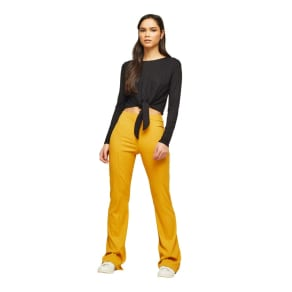 Miss Selfridge - Rib Kick Flare Trousers