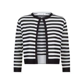 Damsel in a Dress Stripey Cardigan, Black