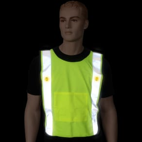 Safeways Neon Yellow Led Mesh Power Vest
