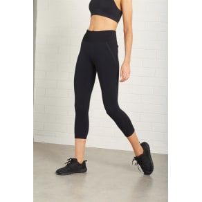 Body - Rib Crop Tight - Black