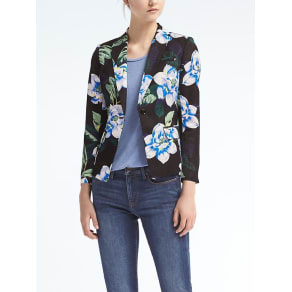 Floral Schoolboy Fit Blazer Women