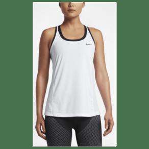 Womens Nike Dri-Fit Miler Tank - White/White/Reflective Silver