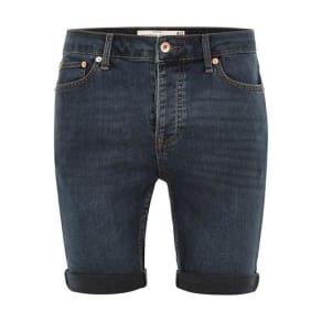 Mens Cream Grey Blue Stretch Skinny Shorts, Cream