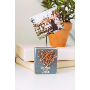 Happily Ever After Heart Photo Holder