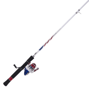 Zebco Folds of Honor Spinning Combo, Multi-Color