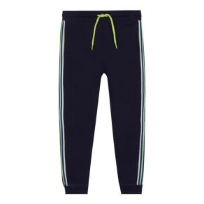 Bluezoo - 'Boys' Navy Striped Trim Jogging Bottoms