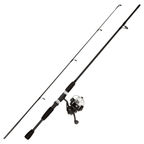 Wakeman Fishing Rod Spinning Rod and Reel Combo - Blackout Swarm Series, Black