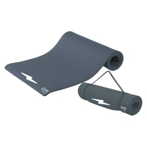 Pure Fitness Deluxe Fitness Mat - Charcoal Gray, Charcoal Heather