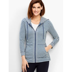 Talbots: Bloom Stripe French Terry Hoodie
