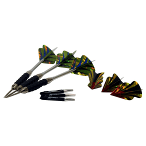 Accudart Grip-It Steel Tip Dart Set, Silver