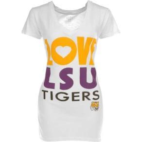 Lsu Tigers Blue 84 Ncaa Womens Sahara V-Neck T-Shirt