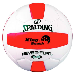 Spalding Never Flat King of the Beach Outdoor Volleyball, White