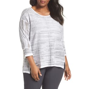 Plus Size Women's Nic+zoe Sand Dune Linen Blend Sweater, Size 1x - Grey