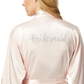 The Collection Light Pink Satin 'Bridesmaid' Kimono
