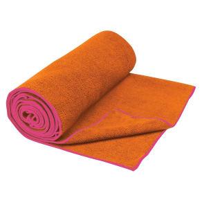 Gaiam Thirsty Tangerine/Posey Yoga Mat Towel, Orange