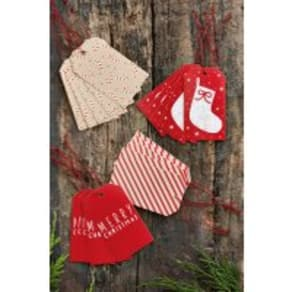 Next 20 Pack Christmas Gift Tags -  Red