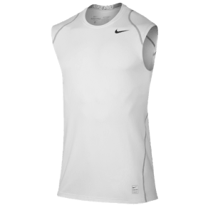Nike Pro Cool Fitted Sleeveless Top - Mens - White/Black