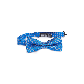 Boy's Nordstrom Medallion Silk Bow Tie, Size One Size - Blue