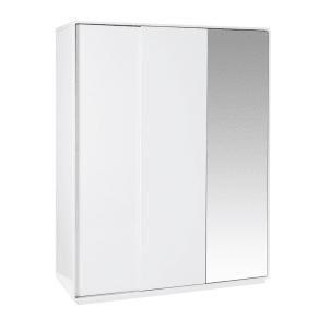 Malone Sliding Mirror Door Wardrobe Large White