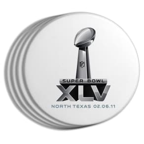 Memory Company Super Bowl Xlv Logo Coasters (Set of Four)