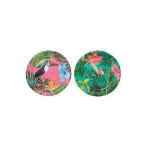 Talking Tables Tropical Fiesta Bright Paper Plates Pack of 12