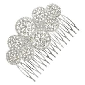Butterfly by Matthew Williamson Crystal Circle Cluster Hair Comb