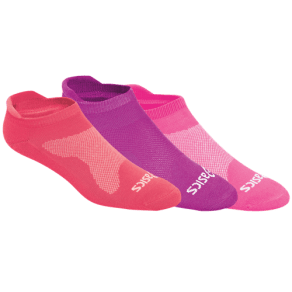 Womens Asics Seamless Cushion Low 3 Pack Socks - Knockout Pink