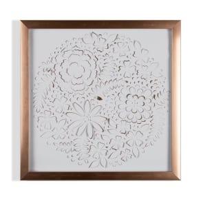 Graham & Brown Rose Gold Petals Framed Wall Art, Gold