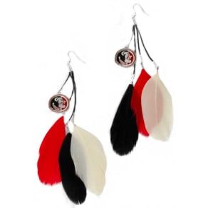 Florida State Seminoles Fan Feather Earrings Ncaa