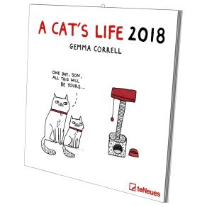 Gemma Correll a Cat's Life 2018 Calendar