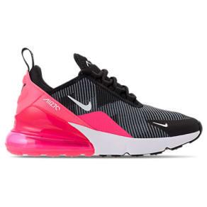 Nike Girls' Grade School Air Max 270 Kjcrd Casual Shoes, Pink/Black
