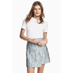 Jacquard-weave wrap skirt