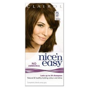 Nice'n Easy No-Ammonia Shade 75 Light Ash Brown Hair Colour