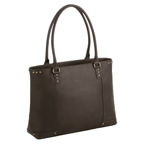 Solo Vintage Leather 15.4 Carryall - Espresso, Women's, Black