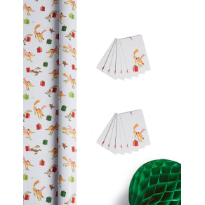 Fun Festive Jumbo Christmas Wrapping Paper 14m & 12 Gift Tags