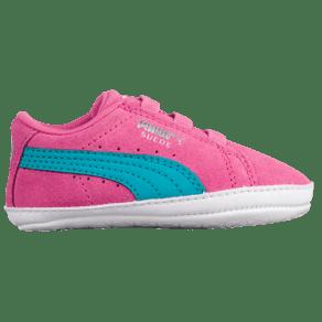 Kids Puma Suede Crib - Girls Infant - Shocking Pink/Navigate