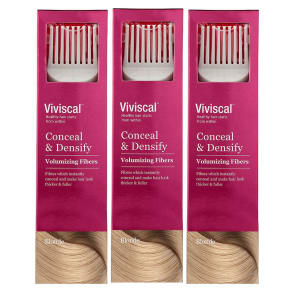 Viviscal Conceal & Densify Volumizing Hair Fibres - Blonde (3 Pack)